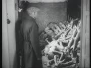 Zivilbevölkerung bei der Besichtigung Dachaus
