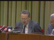 Günter Schabowski verkündet Reisefreiheit für DDR-Bürger