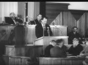 Willy Brandt spricht im Berliner Stadtparlament